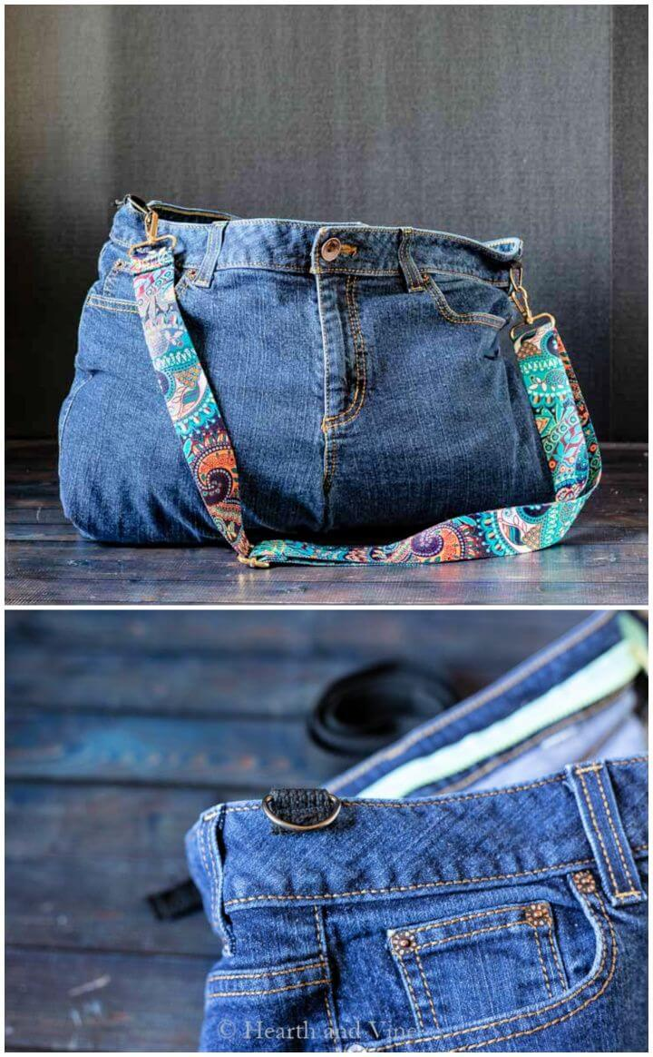 How To DIY Bag from Jeans