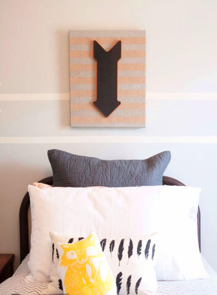 How To DIY Burlap Canvas Wall Art