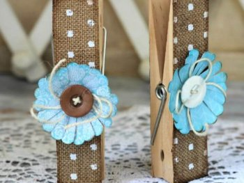 How To DIY Burlap Clothespins