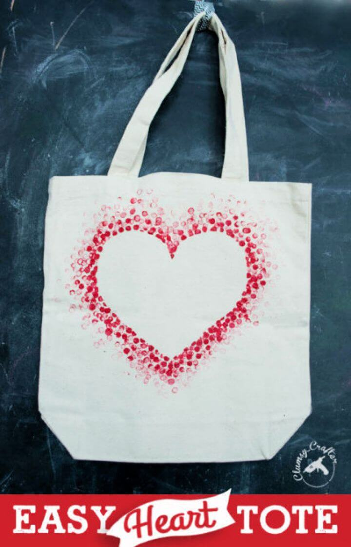 How To DIY Heart Tote Bag