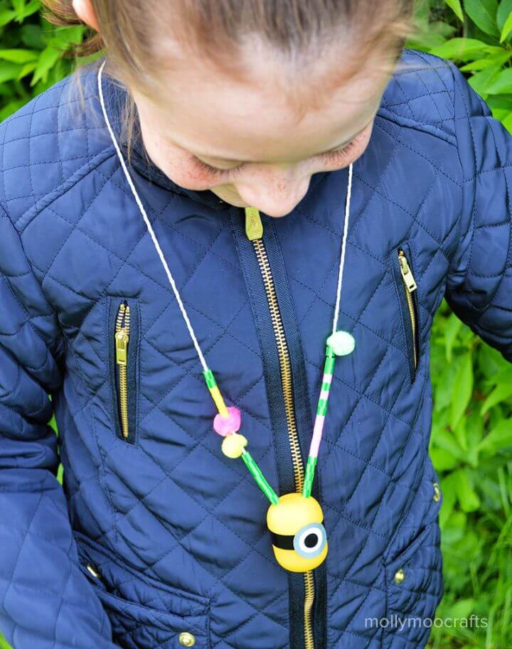 How To DIY Minion Craft Necklace