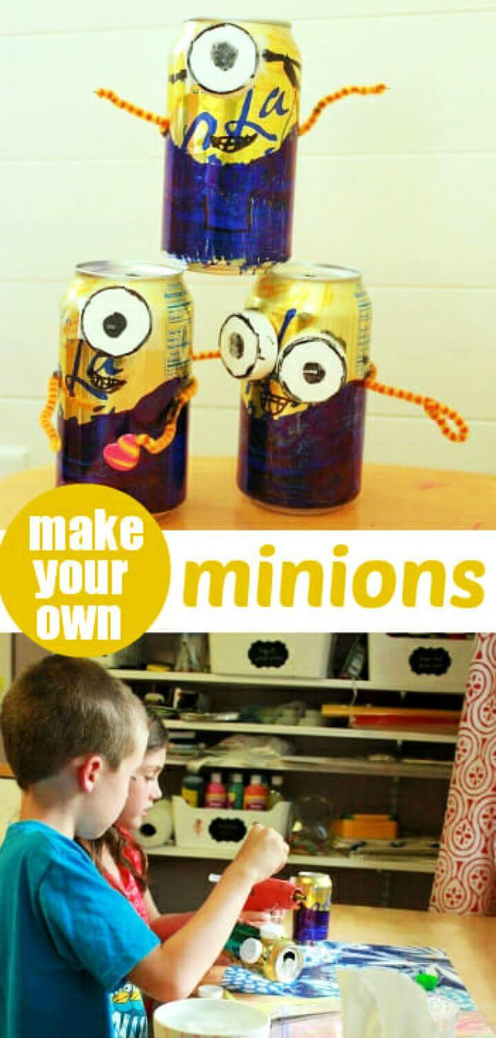 How To DIY Minion Crafts for Kids