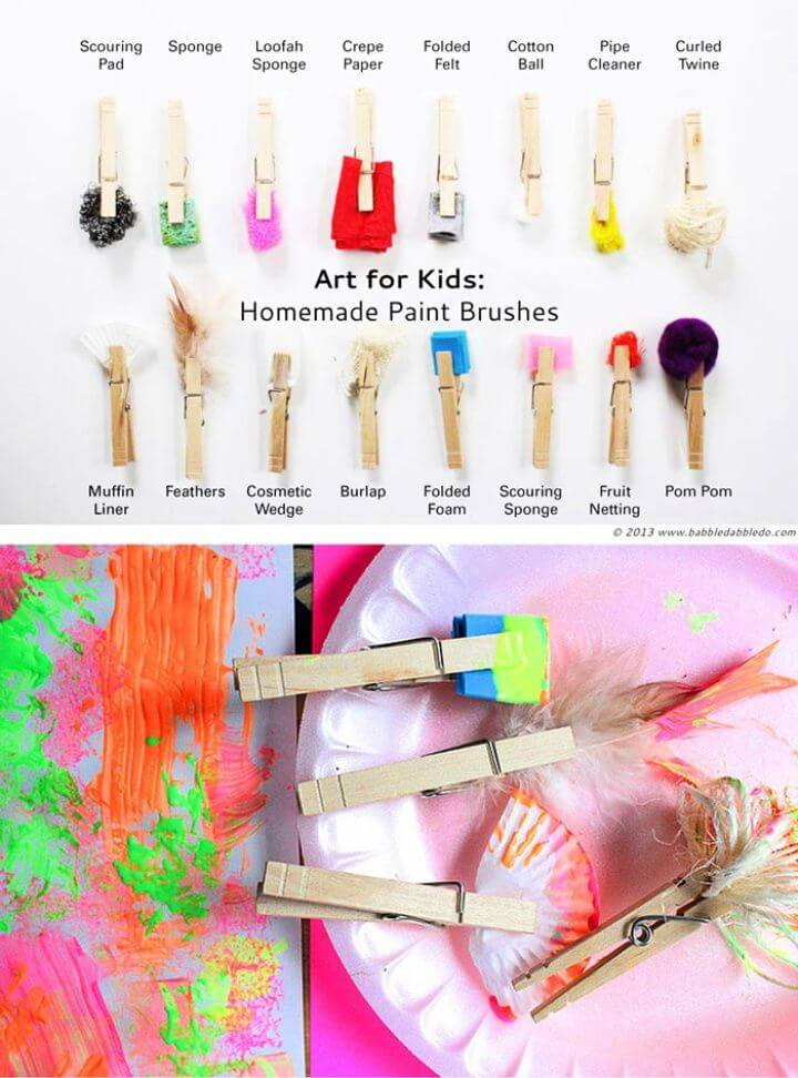 How To DIY Paint Brushes For Kids