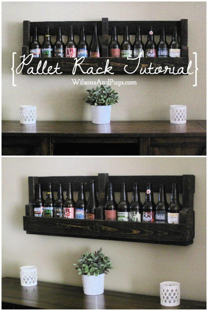 How To DIY Pallet Wine Rack Tutorial