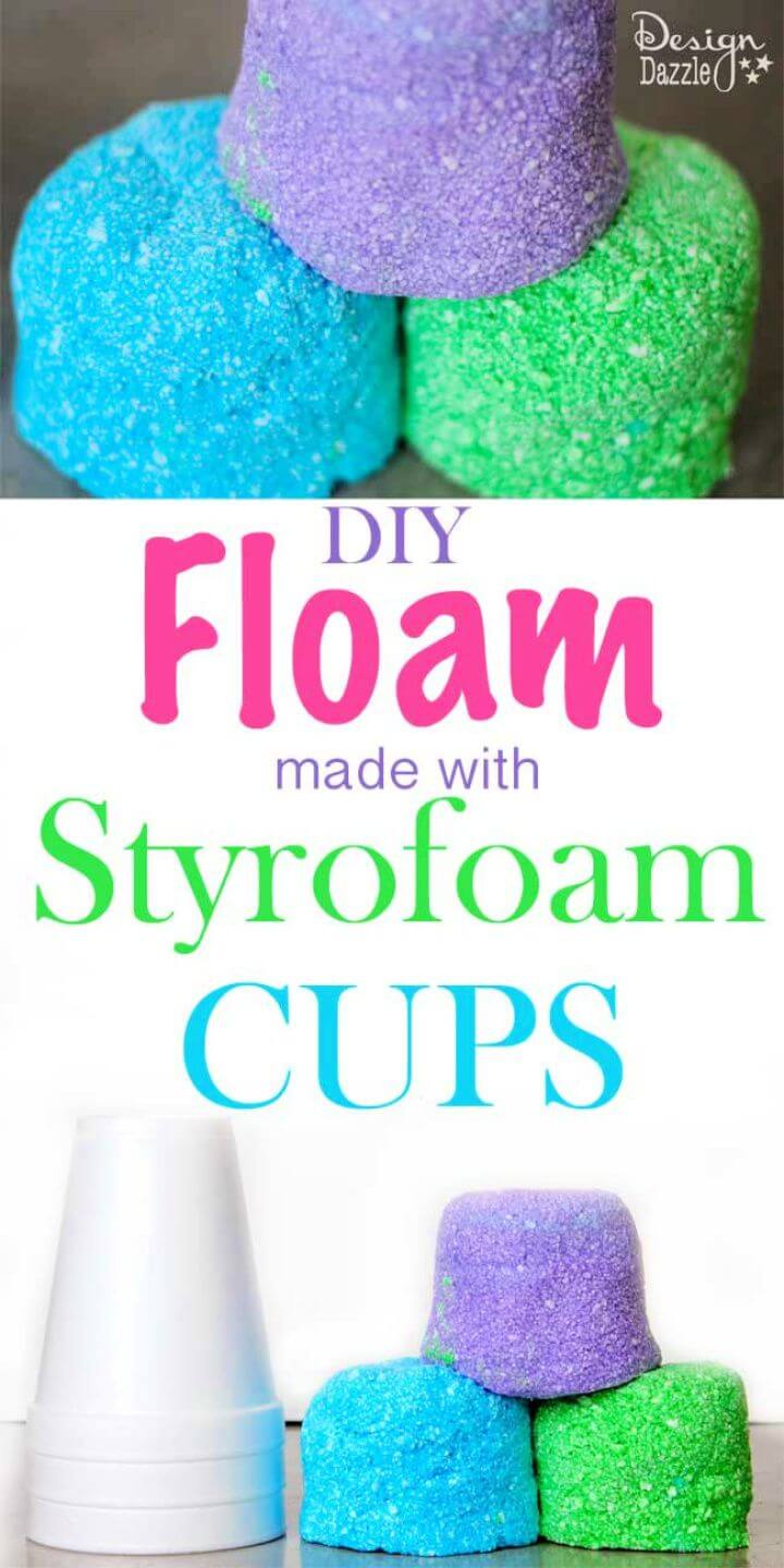 How To DIY Styrofoam Cup Floam For Kids