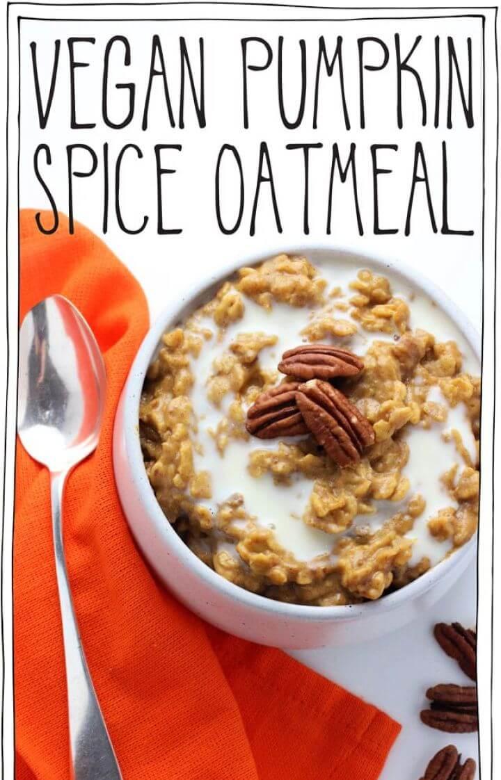 How To DIY Vegan Pumpkin Spice Oatmeal