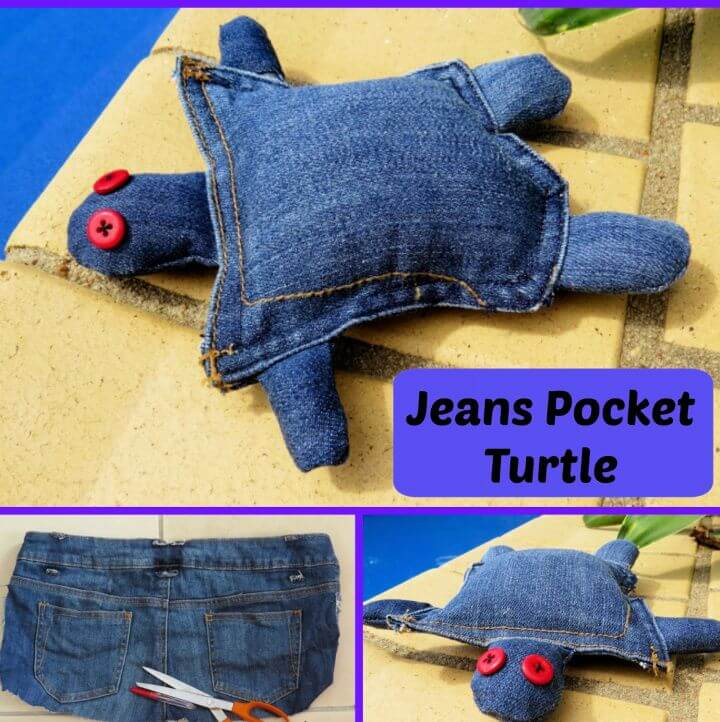 How To Jeans Pocket Turtle Another Clothes Upcycle