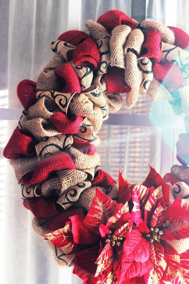 How To Make A DIY Christmas Burlap Wreath
