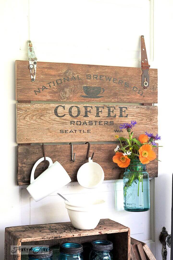 How To Make A DIY Coffee Crate Lid Sign