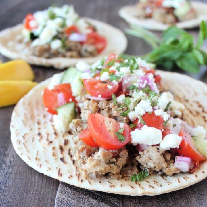 How To Make A DIY Greek Turkey Tacos 2