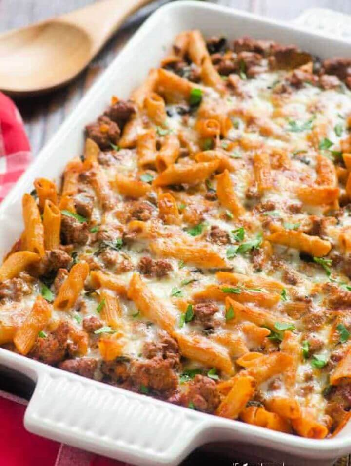How To Make A DIY Ground Turkey Pasta Bake 2