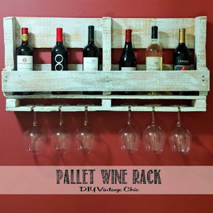 How To Make A DIY Pallet Wine Rack