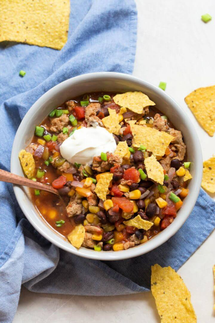 How To Make A DIY Turkey Taco Soup 2