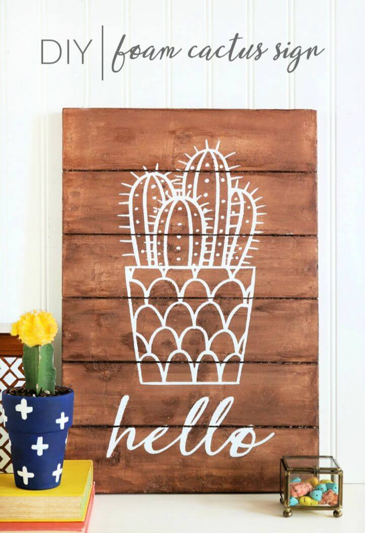 How To Make Your Own A DIY Foam Cactus Sign