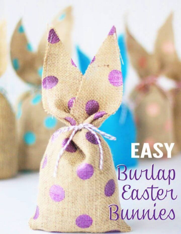 How To Make Your Own DIY Burlap Bunnies