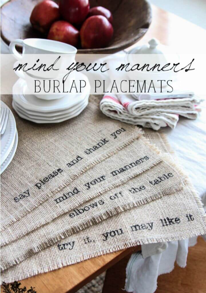 How To Make Your Own DIY Burlap Placemats