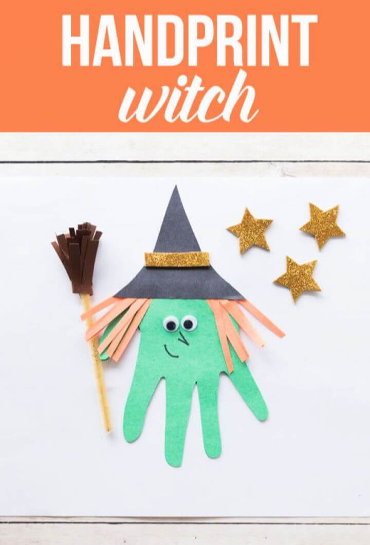 How To Make Your Own DIY Handprint Witch