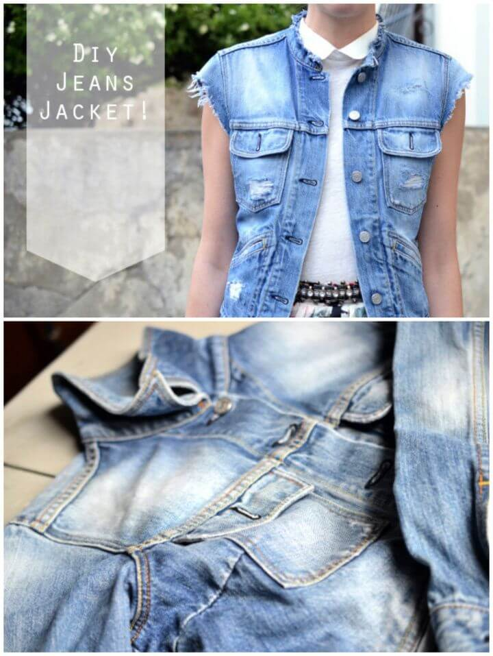 How To Make Your Own DIY Jeans Jacket From Old Jeans