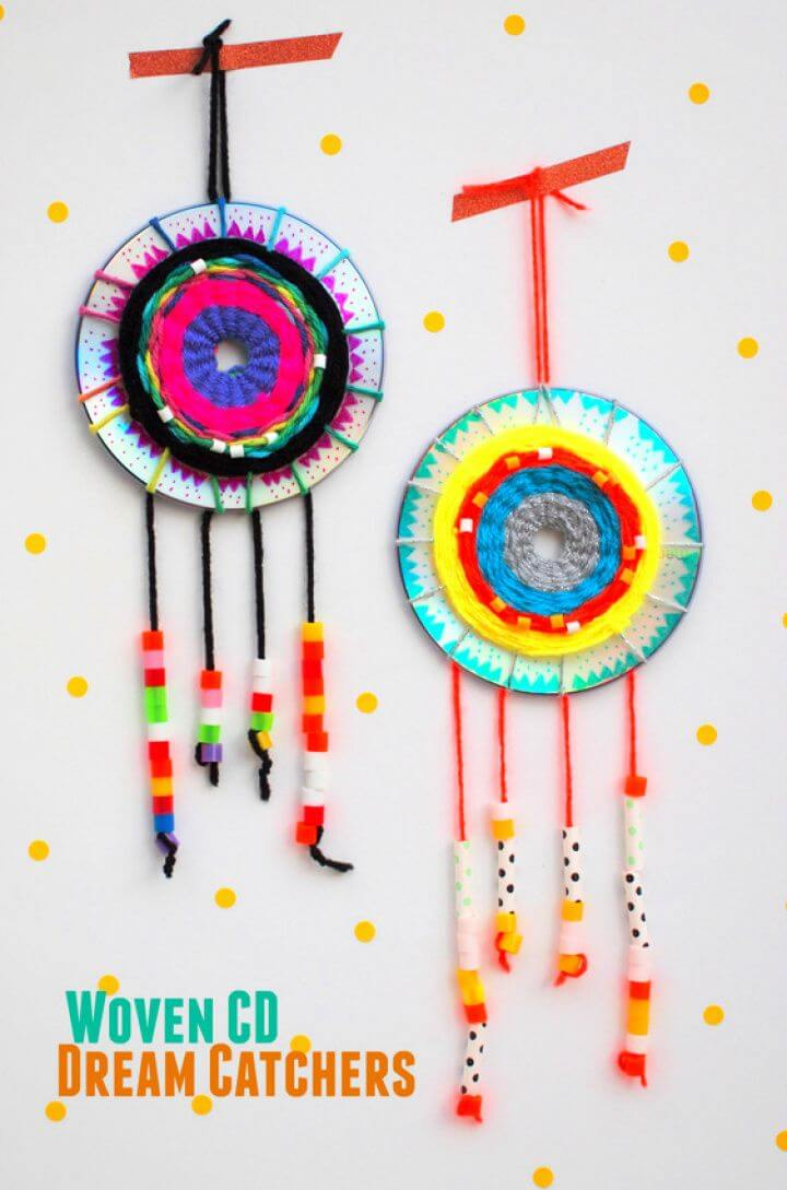 How To Make a Woven CD Dream Catcher