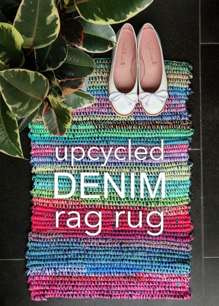 How To Upcycle Style Denim Rag Rug