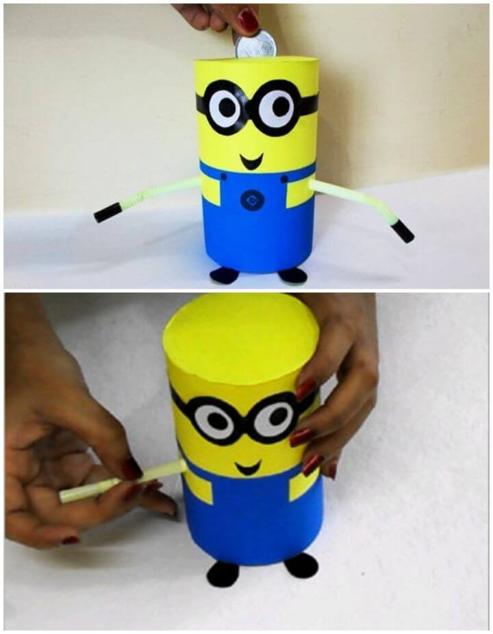 How to Make DIY Recycled Minion Piggy Bank