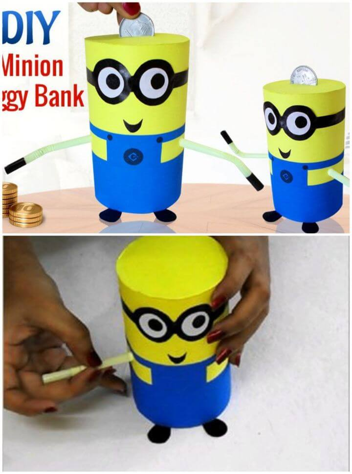 How to Make Recycled DIY Minion Piggy Bank
