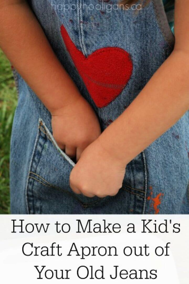How to Make a Kid's Apron from Your Old Jeans