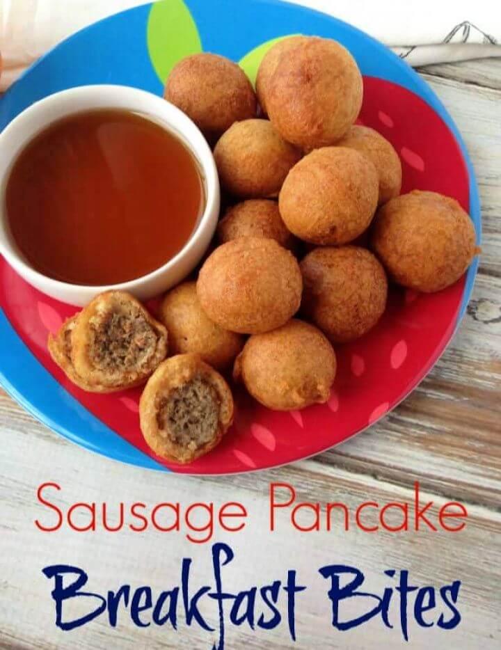 Kid Friendly Sausage Pancake Breakfast Bites