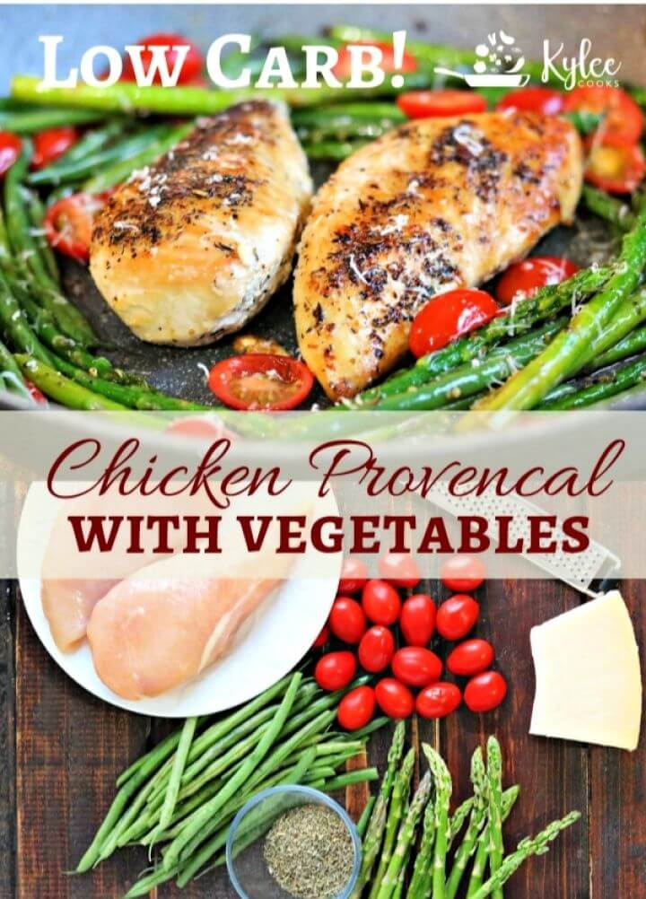 Low Carb Chicken Provencal Vegetables