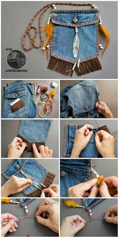 Make A DIY Beg Dari Jeans