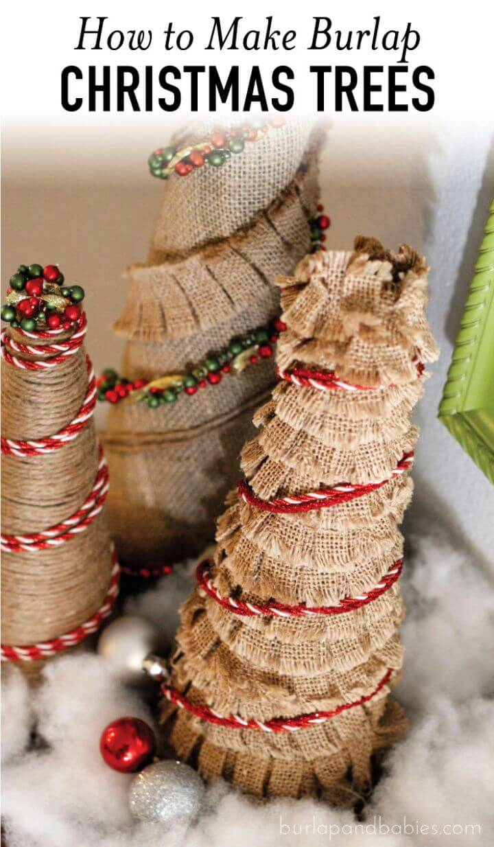 Make A DIY Burlap Christmas Trees