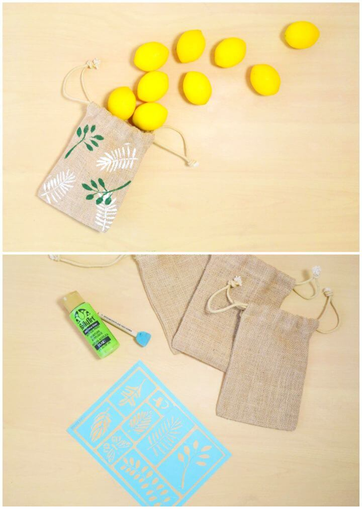 Make A DIY Burlap Favor Bags