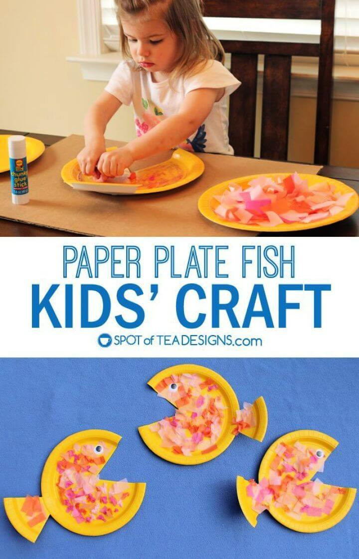 Make A DIY Colorful Paper Plate Fish Kids Craft