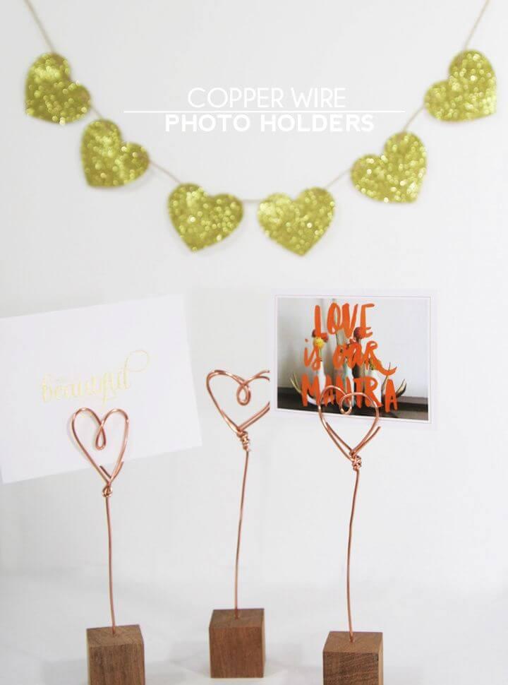 Make A DIY Copper Wire Photo Holders