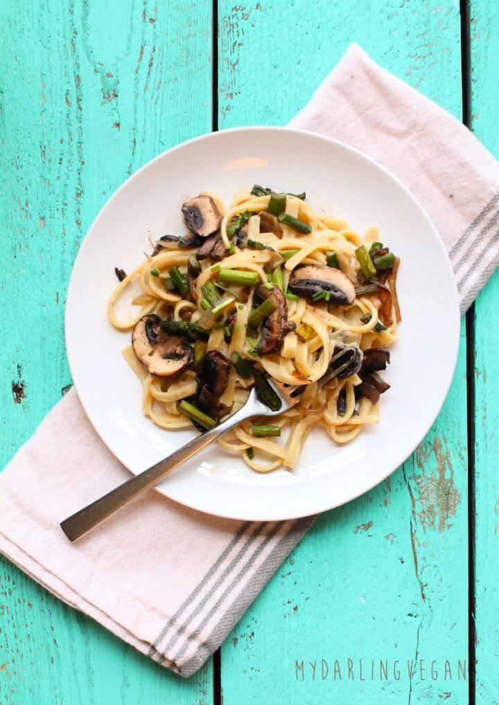 Make A DIY Healthy Vegan Fettuccine Alfredo