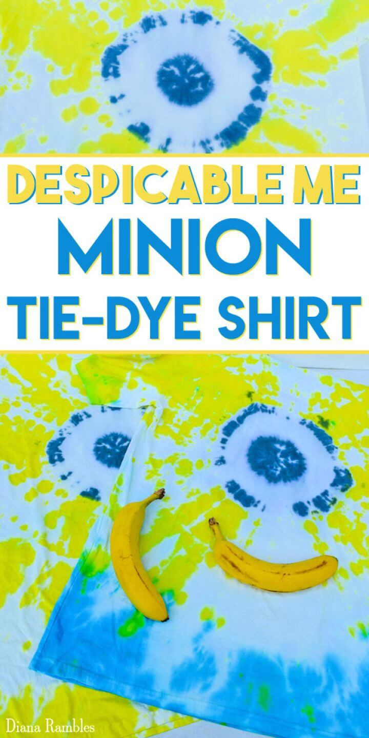 Make A DIY Minion Tie Dye Shirt Tutorial