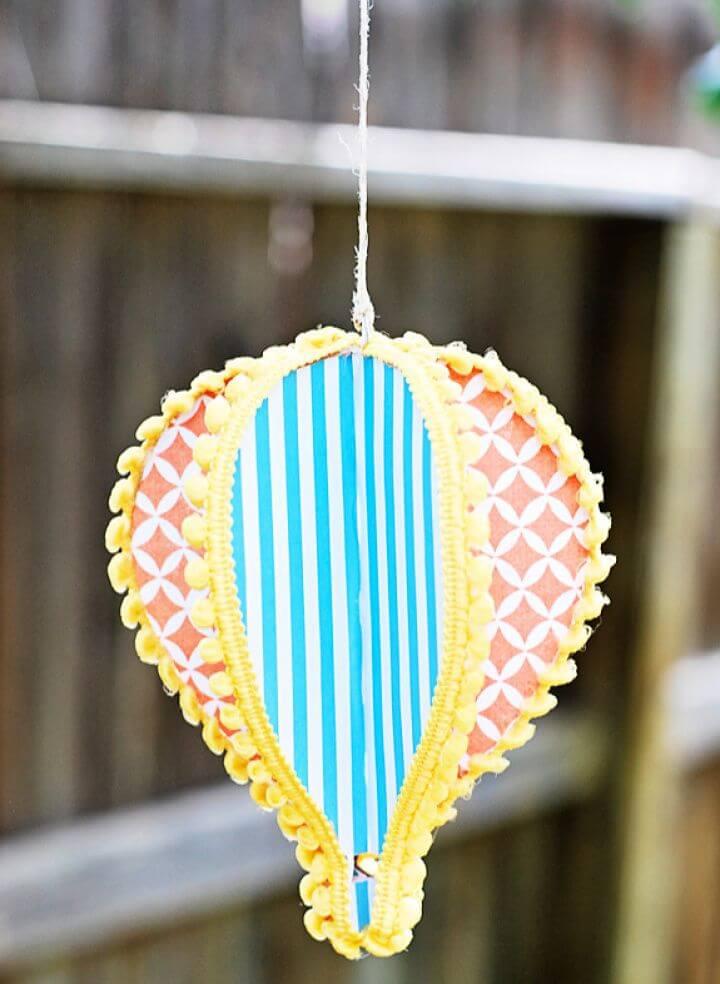 Make A DIY Paper Hot Air Balloon