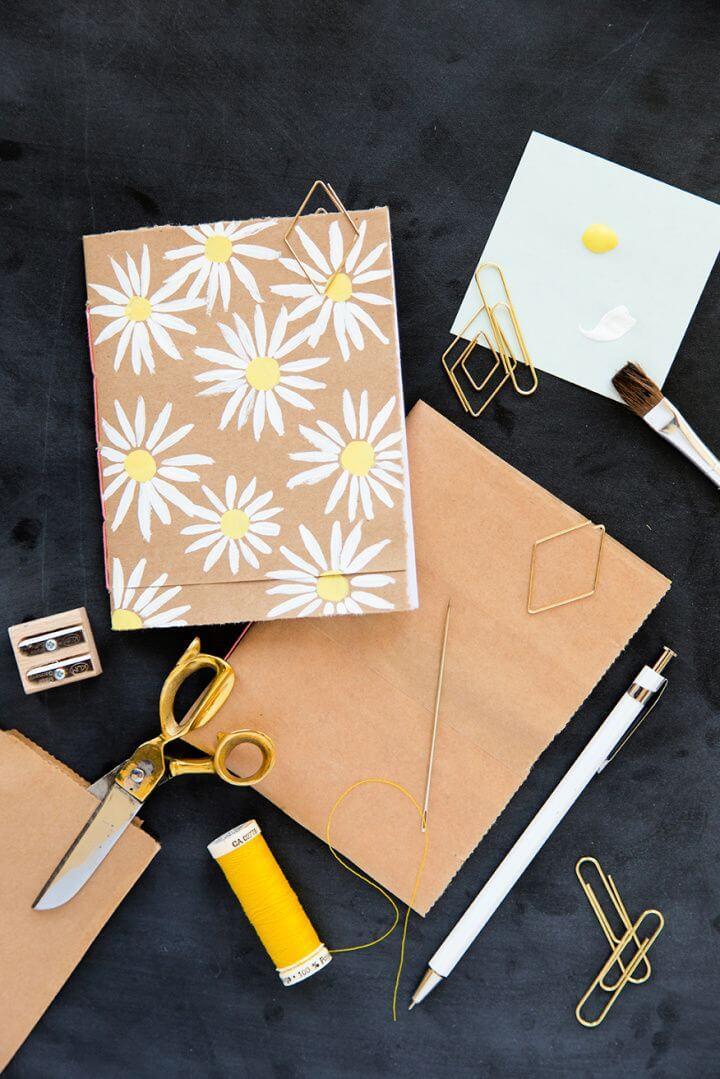 Make Your Own DIY Brown Bag Bookbinding
