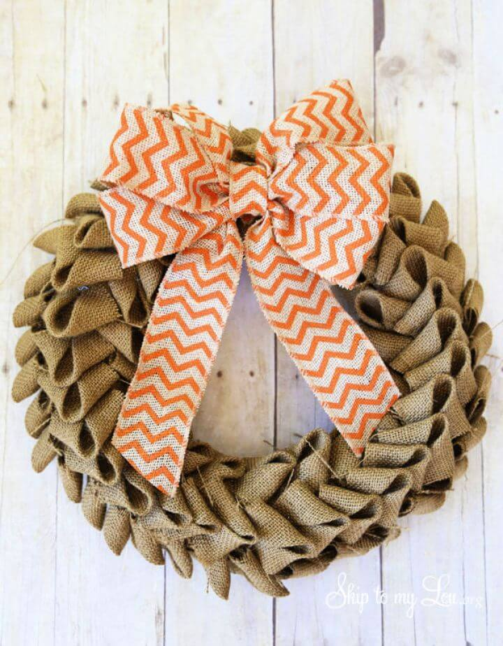 Make Your Own DIY Burlap Wreath Tutorial