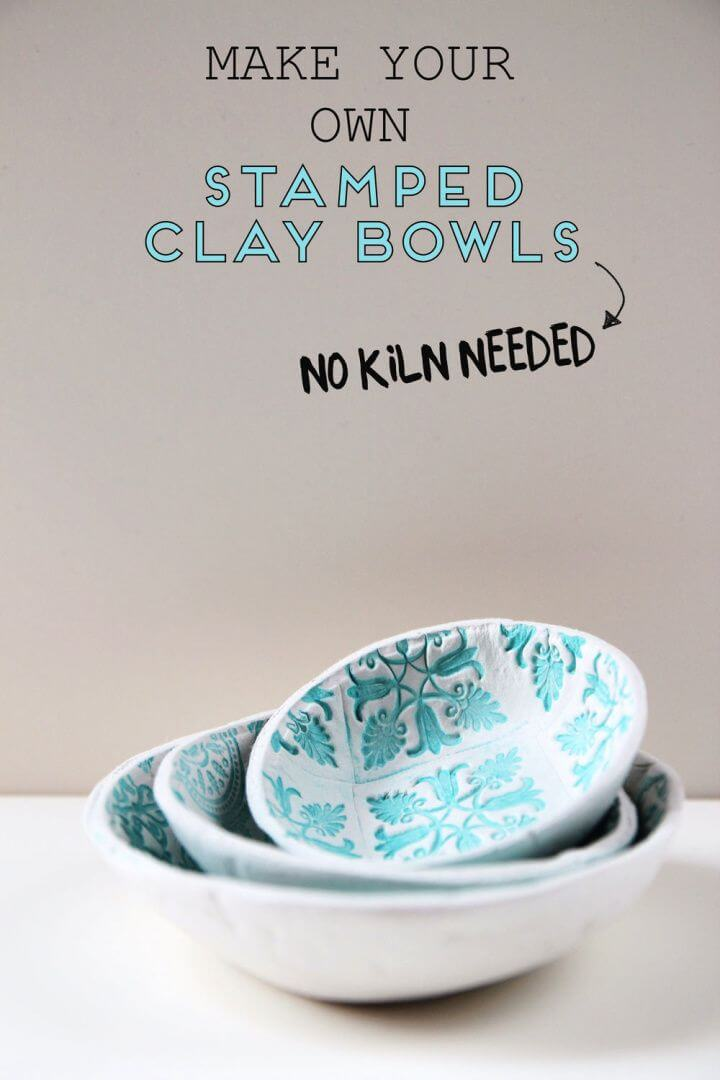 Make Your Own DIY Stamped Clay Bowls