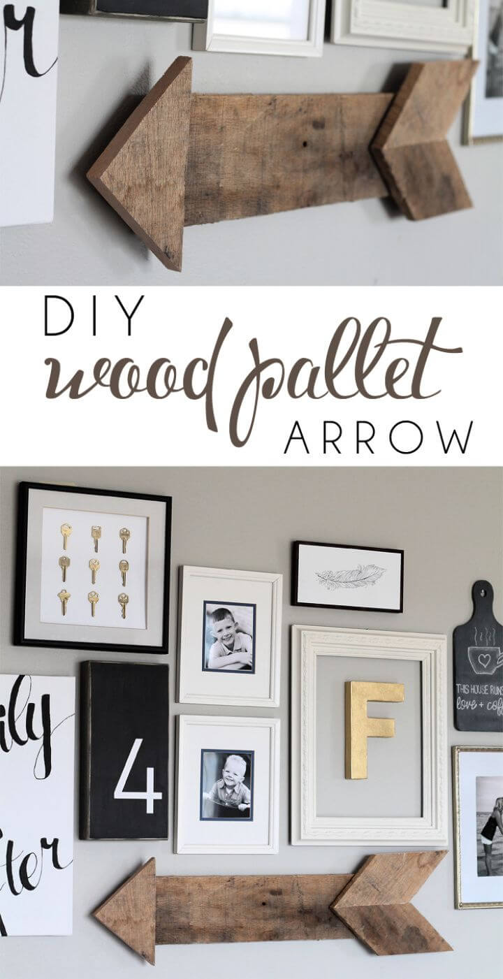 Make Your Own DIY Wood Pallet Arrow
