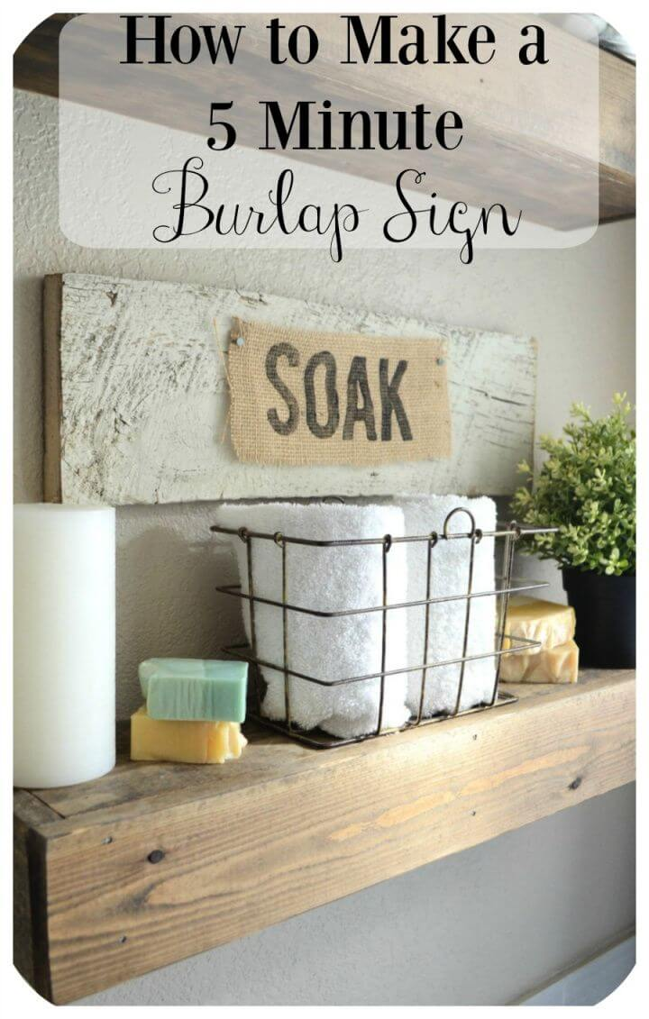 Make a DIY Personalized Burlap Sign