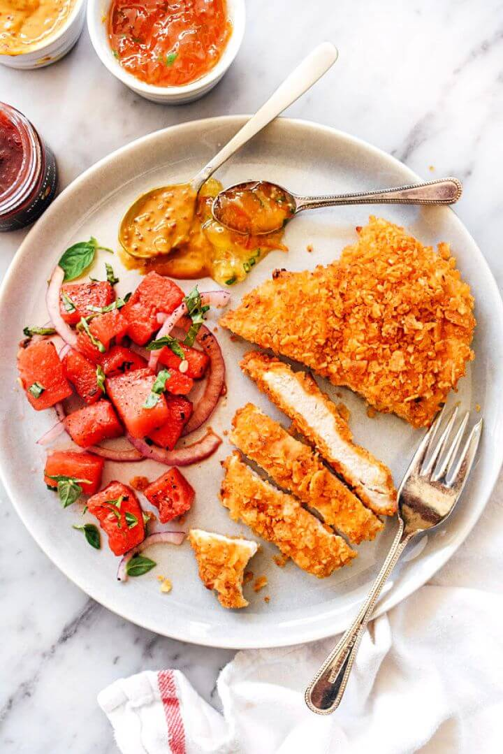 Potato Chip Crusted Chicken Breasts