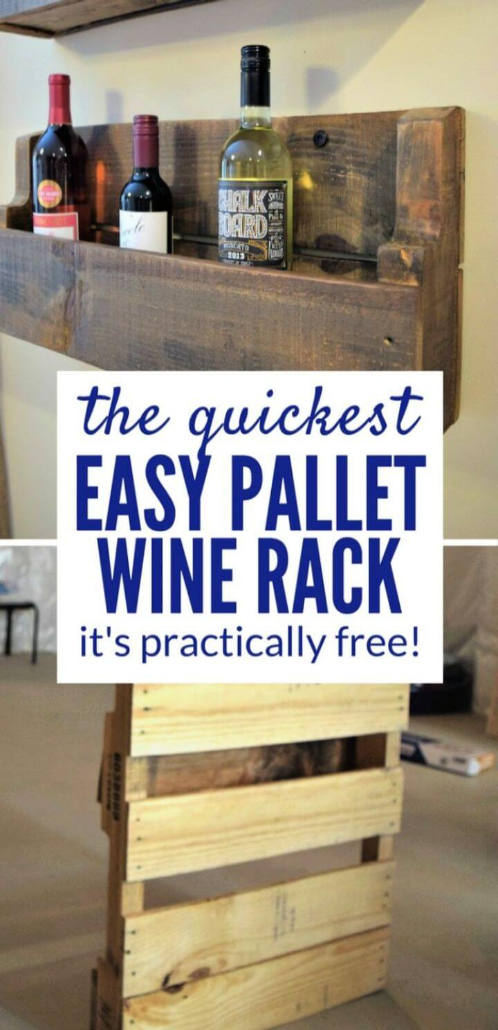 Quick Practically Free Pallet Wine Rack