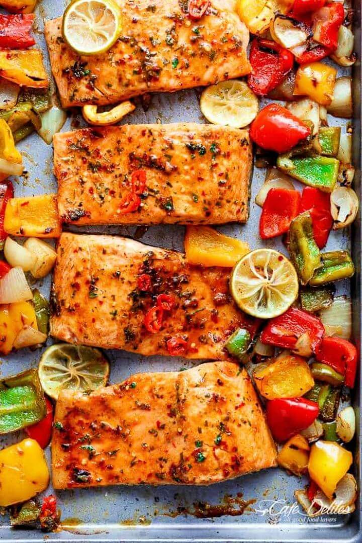 Sheet Pan Chili Lime Salmon