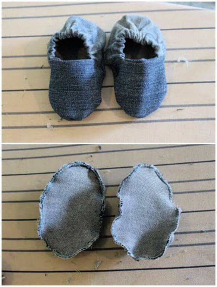Simple DIY Baby Shoes From Old Jeans