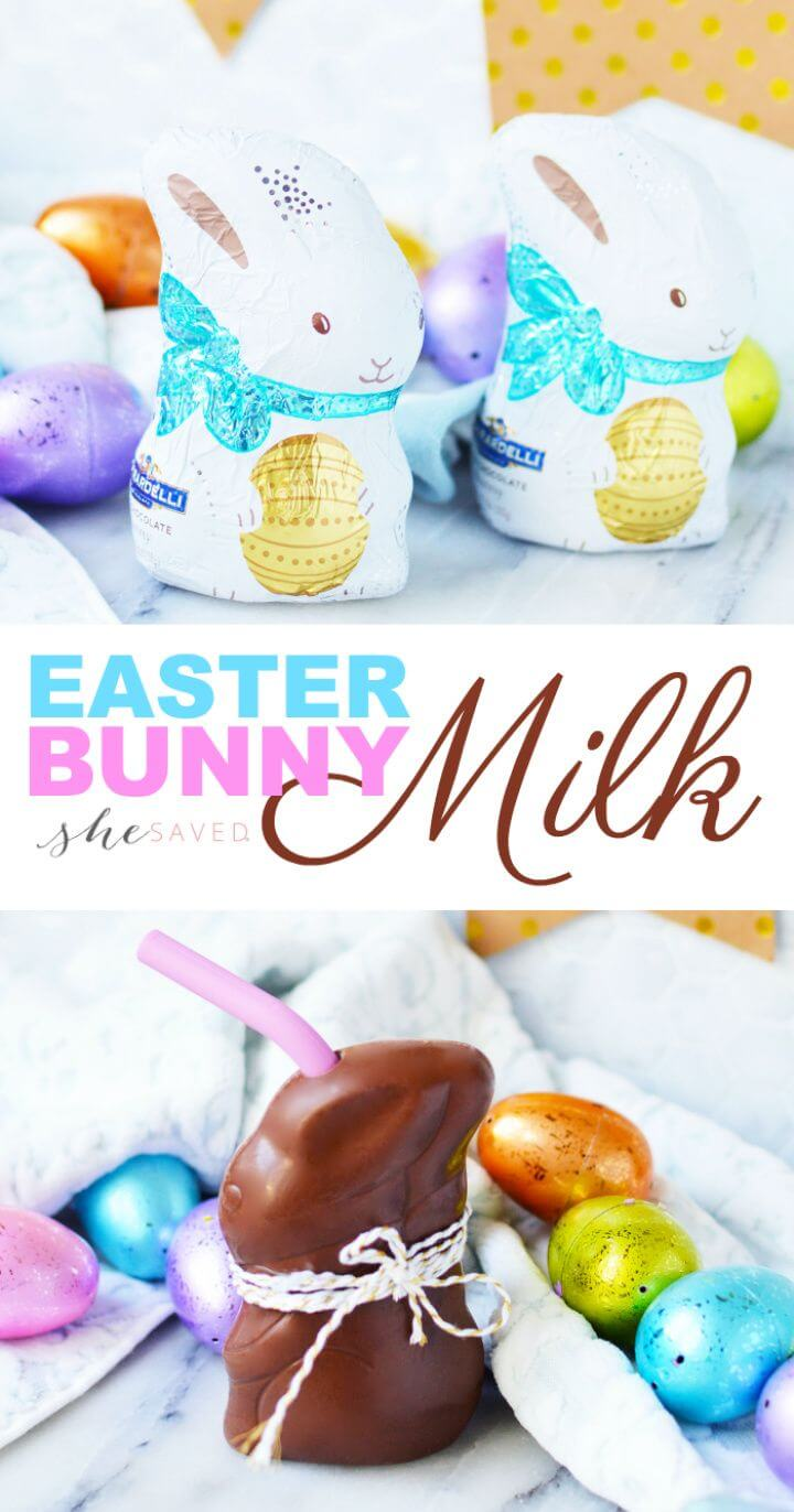 Simple DIY Chocolate Bunny Milk For Kids