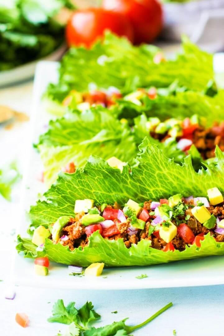 Simple DIY Ground Turkey Taco Lettuce Wraps 2