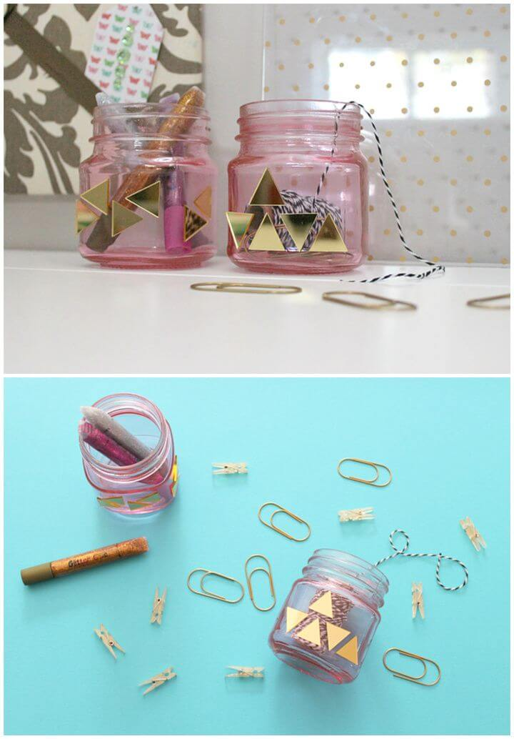 Simple DIY Little Bling For My Craft Jars