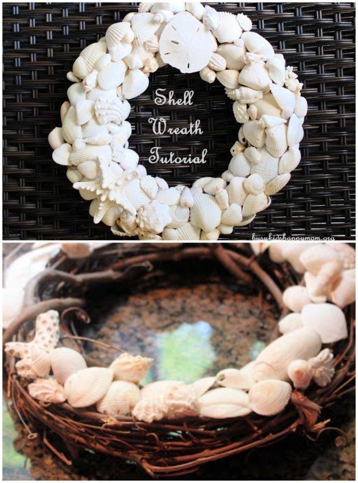 Simple DIY Shell Wreaths Tutorial